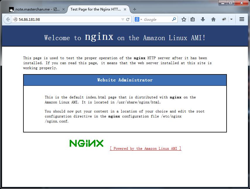 AWS Nginx 安装